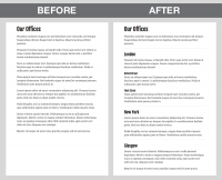 headings before after